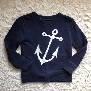 CREWCUTS Anchor Nautical Girls Sweatshirt Sweater